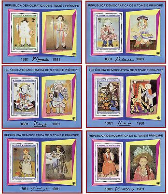 Mnh Mi Bl Tome E Principe 1981 70-75 Stabile Konstruktion 6 Postfrische Blocks S Picasso Gemälde