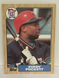 1987-Topps-Kirby-Puckett-baseball-card-Minnesota-Twins-NrMt-Mint-450-HOF-OF-MLB