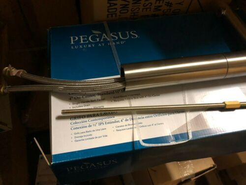 Pegasus Vessel Filler  Brushed Nickel single handle bath sink faucet 958-545L