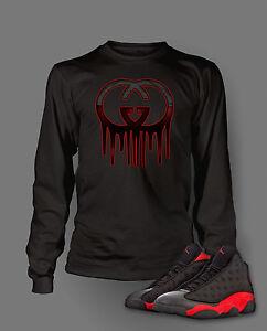 50f43509219 Tee Shirt to Match Retro Air Jordan Bred 13 Shoe Custom Mens Graphic ...