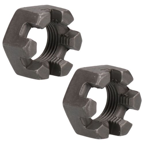 """5//8/"""" UNF Slotted Castle Nuts for Trailer Hubs Castellated Hub Bearing Nuts 2pk"""