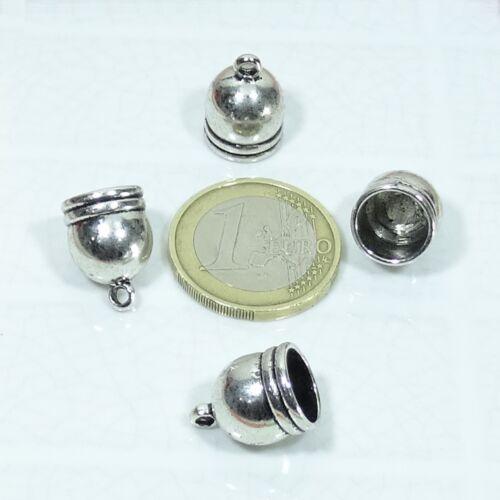 16 Klemmen für Spitze 16x11mm T306A Silber Tibetische Ende Kappen Perlen