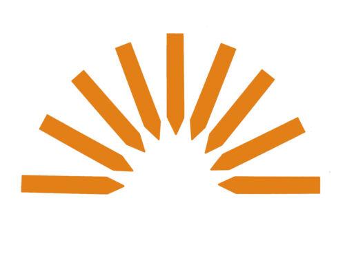 100x Stecketiketten 2 x 12 cm orange Etiketten Steckschilder Pflanzenschilder