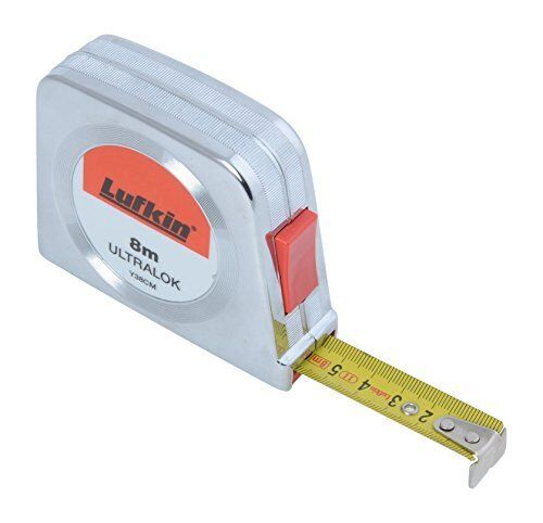 Lufkin Ultralok tape measure with chromed plastic housing, T0060403804