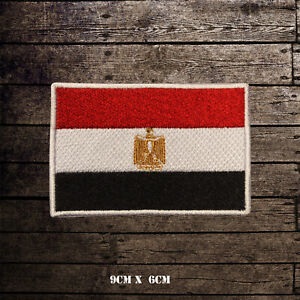 EGYPT-Flag-Embroidered-Iron-On-Sew-On-Patch-Badge-For-Clothes-Etc