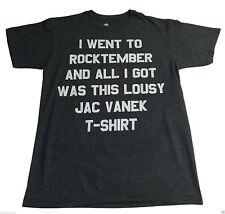 New (M) Element Rocktember Jac Vanek Gray Tee Shirt Music Designer Concert