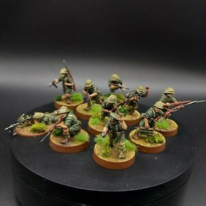 PRO-PAINTED-28mm-ww2-SQUADRA-Australiana-Commando-10-BOLT-ACTION