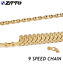 ZTTO Mountain MTB Bike Chain-9 Speed in Gold Glossy Cycling Chain 116 Link 283g
