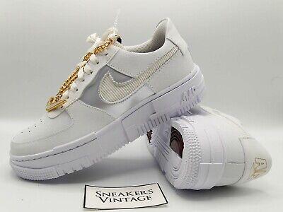 Nike Air Force 1 Pixel Summit White Dark Beetroot Gold Jewel EU 36 38 39/ 3 4 5 | eBay