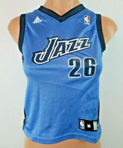best website 9ab7a f0661 Youth M Adidas Kyle Korver #26 Utah Jazz Baby Blue Jersey ...