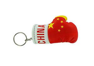 Keychain Mini boxing gloves key chain ring flag key ring cute australia