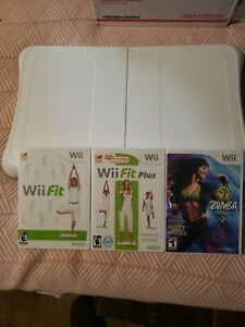 Wii Workout Bundle - Nintendo Wii Fit, Fit Plus, and ZUMBA 2 WITH Balance board
