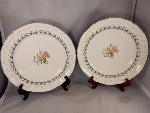 Set of 2 Villeroy /& Boch Romantica Dinner Plates