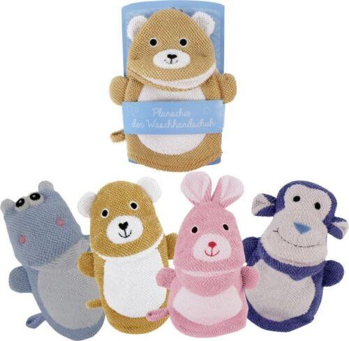 Baby Wasch Handschuhe Tiere ca 22 cm Auswahl oder alle vier