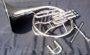 FRENCH-HORN-MELLOPHONE-IN-BB-PITCH-WITH-EXTRA-SLIDE-FOR-F-TUNE-CASE-FREE-SHIP