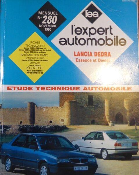 Verantwoordelijk Revue Technique Lancia Dedra Essence Diesel 1.6 1.8 2.0 Td Rta Expert 280 1990