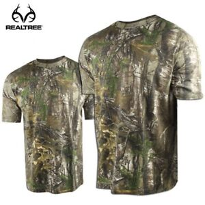 a3a45854 Realtree MAX-5 Camo Crew Neck Hunting Shirt - Short Sleeve M, L or ...