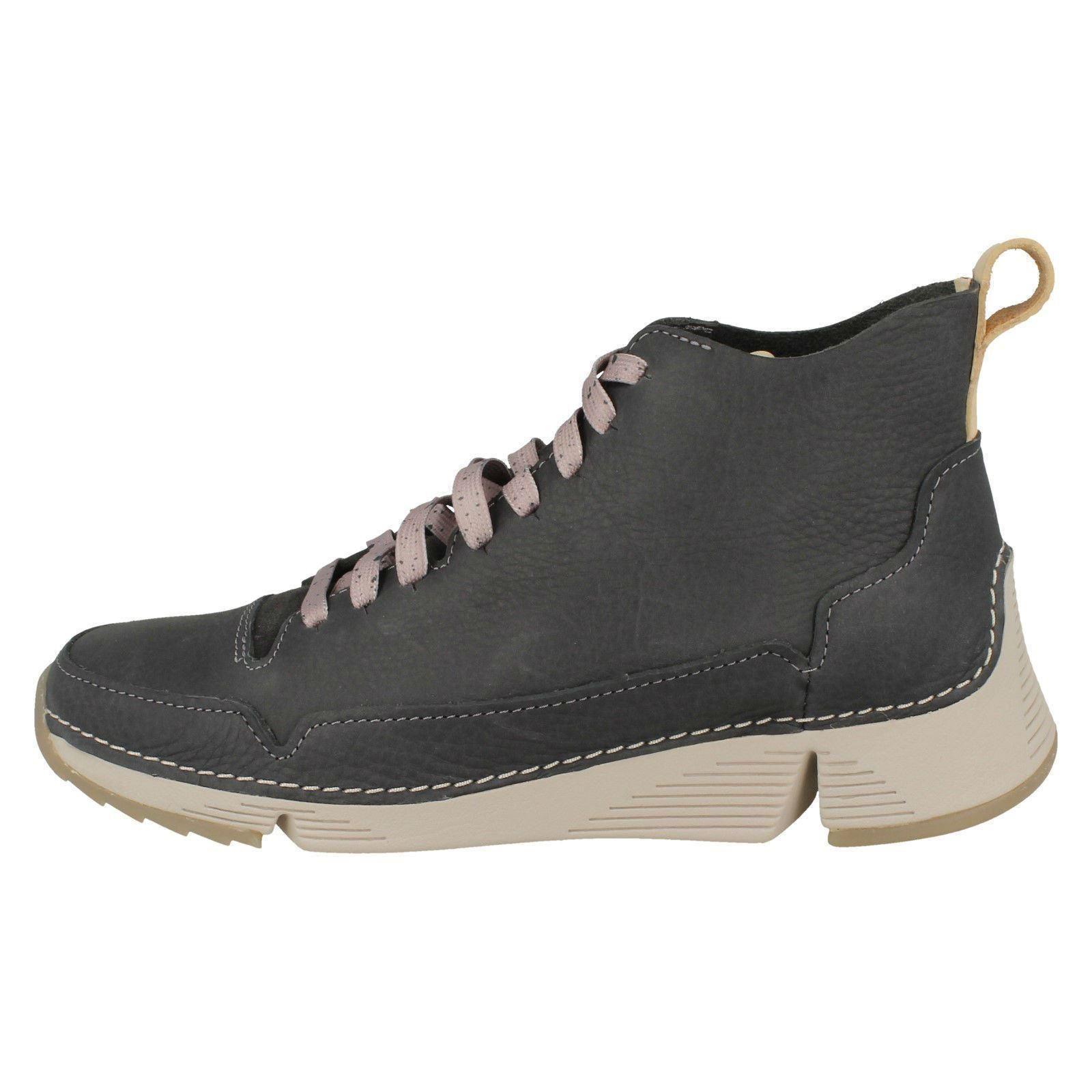 Tri Gratis Trigenic Clarks Mujer Mujer Mujer Cuero Deportivo Zapatillas Ocasional Cordones a4a761