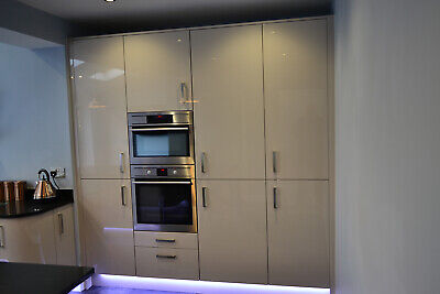 Acrylic High Gloss Almond 5 Kitchen Cabinets Package Offer New Ebay