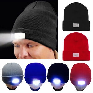5 LED Beanie LED Lighted Cap Warm Wool Hat Winter Flashlight Style ... b31d13be724