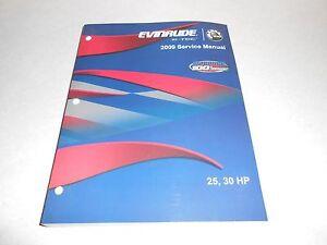2009 25 hp 30 hp genuine brp evinrude e tec outboard repair rh ebay com 30 HP E -TEC 30 HP E -TEC
