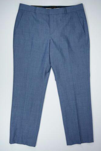 "Women/'s Banana Republic size 14 Blue /""Ryan/"" Slim Fit Pleated Wool Pants NEW NWT"