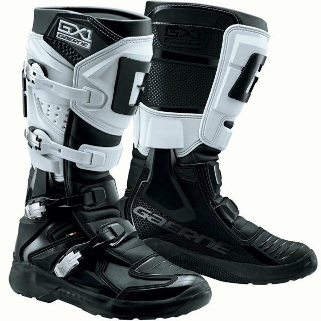 STIVALI BOOTS MOTO CROSS OFF ROAD SNODO GAERNE GX1 EVO BLACK WHITE BIANCO TG 44