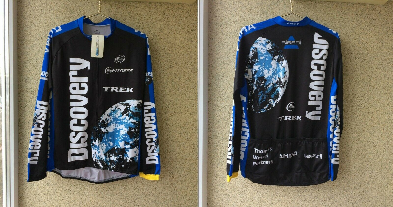 BIKE CYCLING JERSEY SHIRT MAILLOT CYCLISM TEAM DISCOVERY CHANNEL 2XL Camiseta