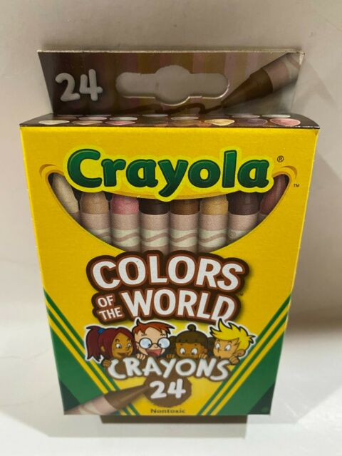 Crayola Colors of the World Crayons 24 pc Skin/Hair/Eyes/Multicultural/Diversity