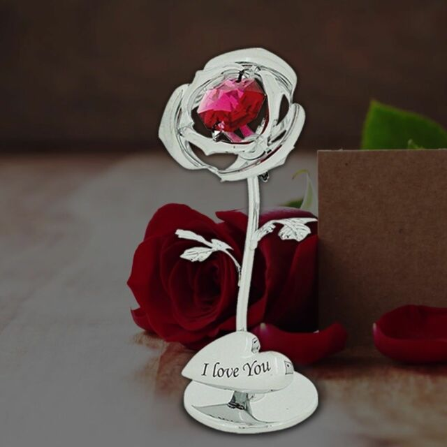 Crystal Rose Gifts For Her Valentine Love Gift Ideas With Swarovski