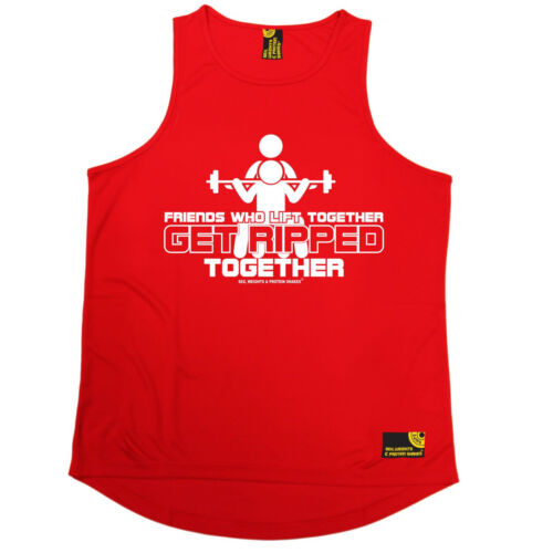 Friends Who Lift Together SWPS MENS DRY FIT VEST birthday gift workout training