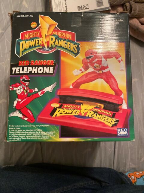 Saban/'s Mighty Morphin Power Rangers Red Ranger Telephone Item # PRT-300