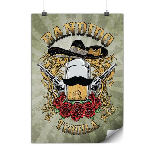 Bandido Tequila Rose Matte//Glossy PosterWellcoda