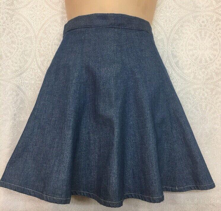 Rag And Bone Short  Flair bluee Denim Skirt Size 24