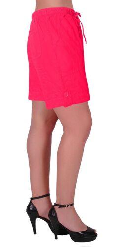 Eden Womens Pull On Cotton Adjustable Waist Elasticated Ladies Shorts