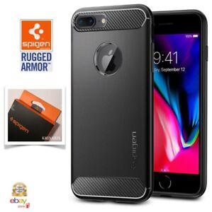 Dettagli su SPIGEN Rugged Armor Cover in Silicone Custodia per Apple iPhone 7 PLUS / 8 PLUS