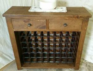 Image Is Loading SOLID REAL WOOD WINE RACK SIDEBOARD NEW CHUNKY