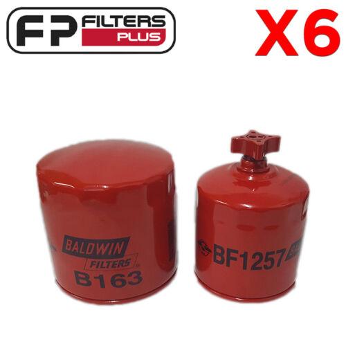 Replaces Bobcat 6675517 BF1257 Oil /& Fuel Service Kit 6667352 6 x B163