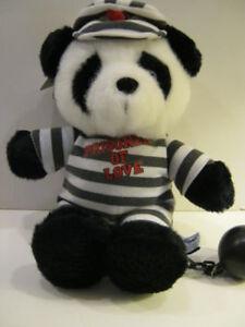 Plush-Panda-Bear-034-Prisoner-of-Love-034-New-Last-in-Inventory-from-closed-store