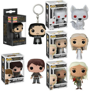 Funko Pop Vinyl Action Figure Game of Thrones Daenerys Jon Snow Wolf Toy Gifts