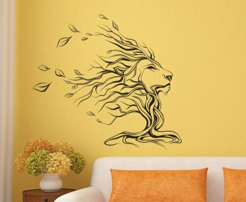 Details about  /Lion Wall Sticker Removable Art Pvc Vinyl Home Decor Decal Mural Living Room