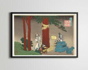 Tanooki Mario Hokusai Painting! - Original POSTER! (up to 24 x 36) - Sledge Bros