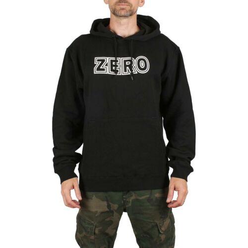 ZERO Grassetto Pullover Con Cappuccio-Nero//Bianco