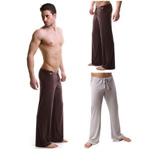 Men's Sheer Loose Yoga Sports Pants Casual Home Trousers ...
