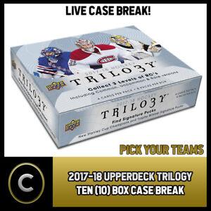 2017-18-UPPER-DECK-TRILOGY-10-TEN-BOX-FULL-CASE-BREAK-H005-PICK-YOUR-TEAM