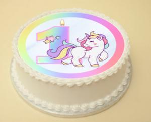 Image Is Loading 1ST BIRTHDAY UNICORN CAKE Amp CUPCAKE TOPPERS DECORATION