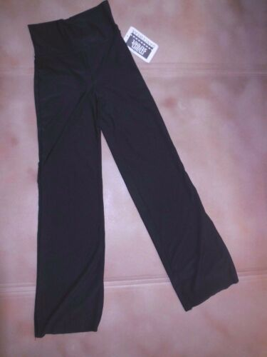 NWT RollDown HighWaist Bootcut Jazz pants Mattespandex ch//ladies Black red Dance