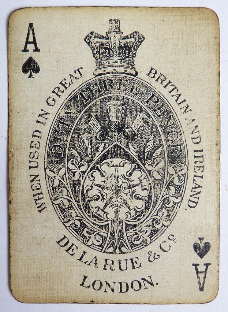 Ancien jeu de 52 cartes + joker DE LA RUE & Co LONDON playing cards