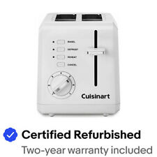 Cuisinart CPT-122FR CPT-122 2-Slice Compact Toaster White -Certified Refurbished
