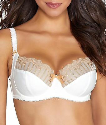 Charnos Sienna 129501 Underwired Full Cup Bra Sizes 30-40 D to J Cup Ivory//Gold